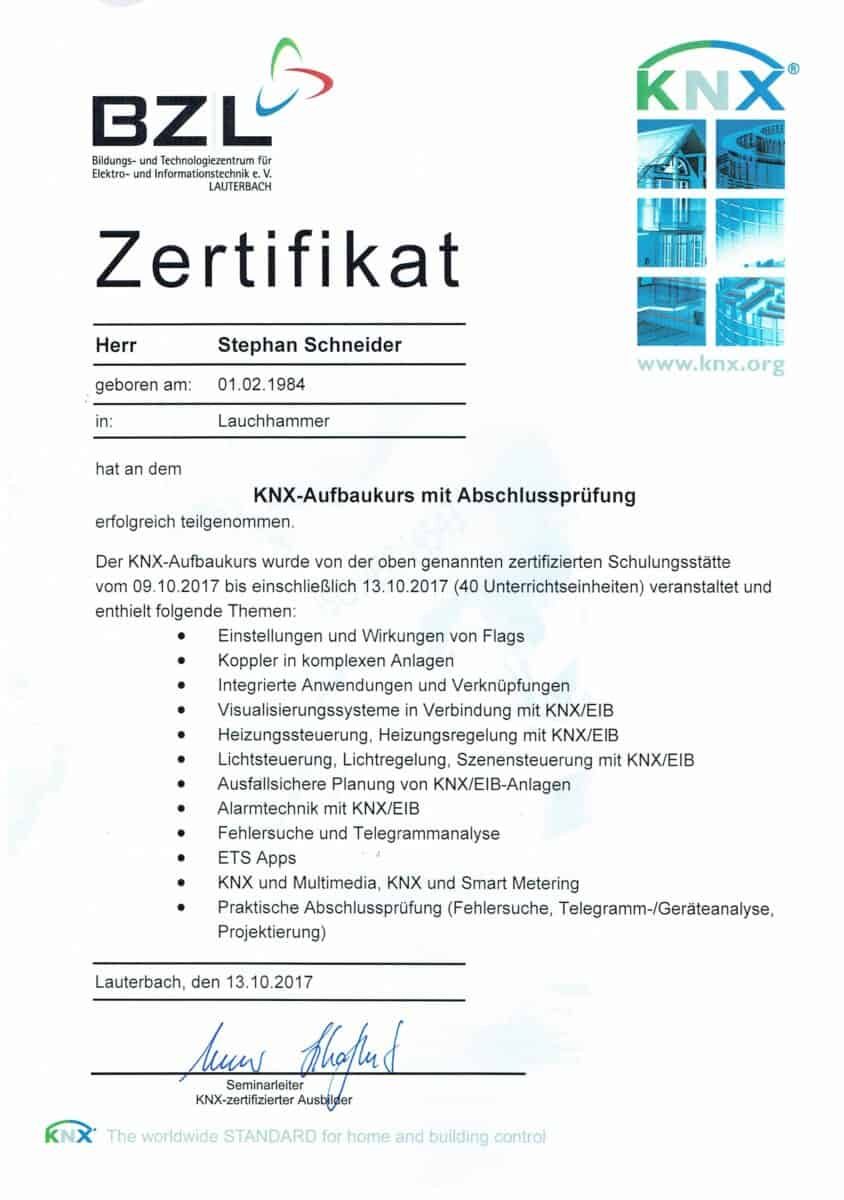 Elektrotechnik KNX Aufbaukurs